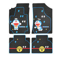 Classic Doraemon Cartoon Cute Universal Auto Carpet Car Floor Mats Rubber 5pcs Sets - Blue
