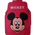 Classic Mickey Mouse Cartoon Disney Universal Auto Carpet Car Floor Mats Rubber 5pcs Sets - Red