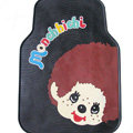 Classic Monchhichi Cartoon Cute Universal Auto Carpet Car Floor Mats Rubber 5pcs Sets - Black