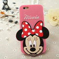 Cute Cartoon Cover Disney Minnie Silicone Cases Skin for iPhone 6 Plus 5.5 - Pink