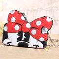 Cute Cover Cartoon Minnie Silicone Cases Chain for iPhone 7 Plus 5.5 - Red