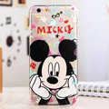 Cute Cover Disney Mickey Mouse Silicone Case Cartoon for iPhone 6 Plus 5.5 - Transparent