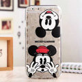 Cute Cover Disney Mickey Mouse Silicone Case Minnie for iPhone 6 Plus 5.5 - Transparent