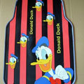Cute Donald Duck Cartoon Lines Universal Automobile Carpet Car Floor Mats Rubber 5pcs Sets - Red
