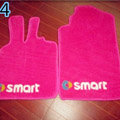 Cute Tailored Trunk Carpet Auto Floor Mats Velvet 5pcs Sets For Peugeot 207 - Pink