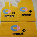 Cute Tailored Trunk Carpet Cars Floor Mats Velvet 5pcs Sets For BMW 520i - Yellow