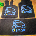 Cute Tailored Trunk Carpet Cars Floor Mats Velvet 5pcs Sets For Peugeot 207 - Black