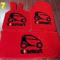 Cute Tailored Trunk Carpet Cars Floor Mats Velvet 5pcs Sets For Peugeot 407 - Red