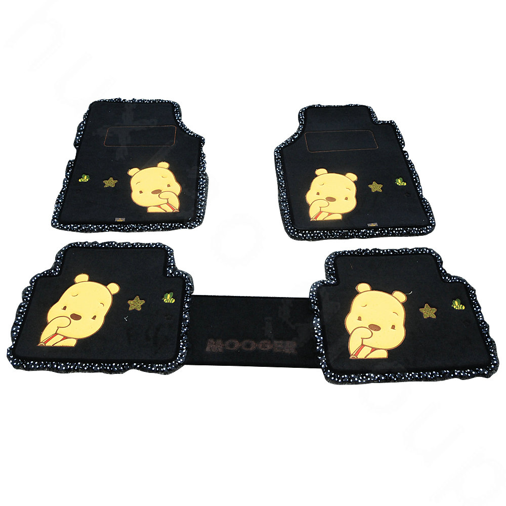 girly car floor mats. Beautiful Floor Girly Car Floor Mats Plush 5pcs Sets  Black More Images With