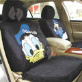 Disney DonaldDuck Custom Auto Car Seat Cover Set Suede - Black