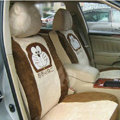 Disney Doraemon Custom Auto Car Seat Cover Set Suede - Beige Brown