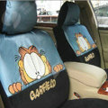 Disney Garfield Custom Auto Car Seat Cover Set Suede - Blue Black