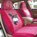 Disney Melody Custom Auto Car Seat Cover Set Suede - Rose