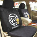 Disney Paul Frank Custom Auto Car Seat Cover Set Suede - Black