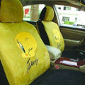 Disney Tweety Bird Custom Auto Car Seat Cover Set Suede - Yellow