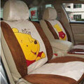 Disney Winnie the pooh Custom Auto Car Seat Cover Set Suede - Beige Brown