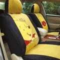 Disney Winnie the pooh Custom Auto Car Seat Cover Set Suede - Yellow Black