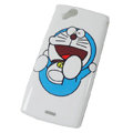 Doraemon Hard Cases Covers for Sony Ericsson Xperia Arc X12 LT15I LT18i - White
