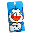 Doraemon scrub hard skin cases covers for Sony Ericsson LT26i Xperia S - Blue