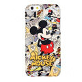 Genuine Cute Cartoon Mickey Mouse Covers Plastic Back Cases Matte for iPhone 7 Plus 5.5 - Red
