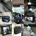 Genuine Mickey Mouse Auto Car Use Interior Decoration Leather Cotton Full Set 12pcs - Black