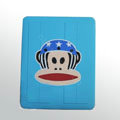 IPAD Silicone Case monkey mouth Green Silicone - Blue