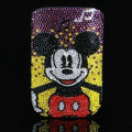 Luxury Bling Holster Covers Minnie Mouse diamond Crystal Cases for iPhone 6S Plus - Red