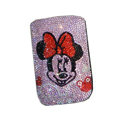 Luxury Bling Holster covers Minnie Mouse diamond crystal cases for iPhone 4G - Pink