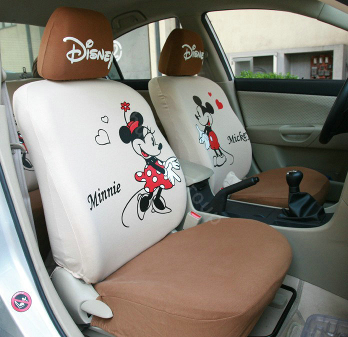 More Images CODE0001673522102012Qty6 NAMEMickey Minnie Mouse Universal Auto Car Seat Covers