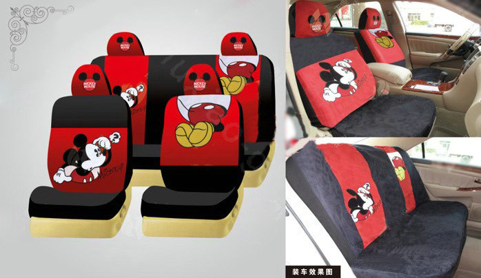 NAMEMickey Mouse Disney Custom Auto Car Seat Cover Set Suede