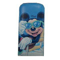 Mickey Mouse Leather Cases Holster Covers for HTC Incredible S S710E G11 - Blue