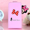 Minnie Mouse Flip leather Case Holster Cover Skin for iPhone 6S Plus - Pink