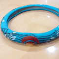 Mocmoc Auto Car Steering Wheel Cover Rubber Note Diameter 15 inch 38CM - Blue