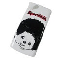Monchhichi Hard Cases Covers for Sony Ericsson Xperia Arc X12 LT15I LT18i - White