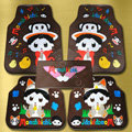 Monchhichi Paul Frank Universal Automobile Carpet Car Floor Mats Set Rubber 5pcs Sets - Coffee