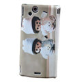 Monchhichi Scrub Hard Cases Covers for Sony Ericsson Xperia Arc LT15I X12 LT18i - Gray
