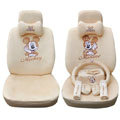 OULILAI Mickey Mouse universal Car Seat Covers sets - beige