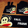 Paul Frank Tailored Trunk Carpet Auto Floor Mats Velvet 5pcs Sets For Peugeot 407 - Black