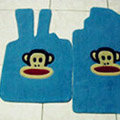 Paul Frank Tailored Trunk Carpet Cars Floor Mats Velvet 5pcs Sets For Peugeot BB1 - Blue