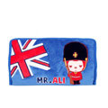 Peach & Ali Auto Car Tissue Box Plush Cotton British Flag - Blue
