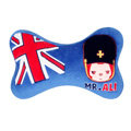 Peach & Ali Auto Neck Pillows Car Headrest Plush Cotton British Flag - Blue