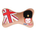 Peach & Ali Auto Neck Pillows Car Headrest Plush Cotton British Flag - Brown
