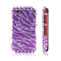 Purple Zebra 3D Crystal Bling Back Case For LG KP500