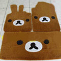 Rilakkuma Tailored Trunk Carpet Cars Floor Mats Velvet 5pcs Sets For BMW 520i - Brown