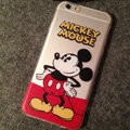TPU Cover Disney Mickey Mouse Silicone Case Akimbo for iPhone 7 Plus 5.5 - Transparent