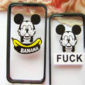 TPU Cover Disney Mickey Mouse Silicone Case Banana for iPhone 6 Plus 5.5 - Transparent