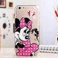 TPU Cover Disney Minnie Mouse Silicone Case Cartoon for iPhone 7 Plus 5.5 - Transparent