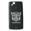 TRANSFORMERS Scrub Hard Cases Covers for Sony Ericsson Xperia Arc LT15I X12 LT18i - Black