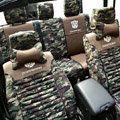 Transformers Autobot Customized Camo Auto Car Seat Covers 10pcs Sets for Jeep Commander - Green