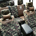 Transformers Autobot Customized Camo Auto Car Seat Covers 10pcs Sets for Jeep Compass - Green